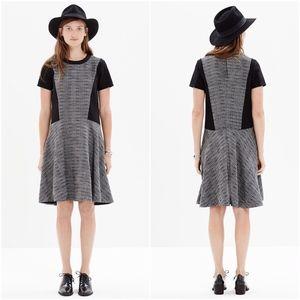 Madewell Black White Combo Textured Tribune Dress